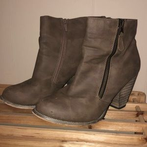 Olive Ankle Boots